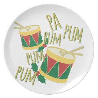 Rum Pa Pum Pum Dinner Plate