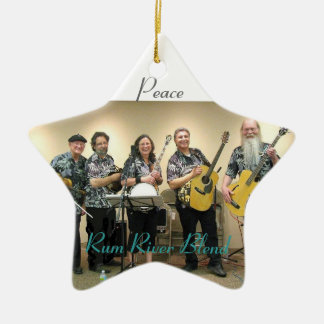 Rum River Blend 2010 Double-Sided Star Ceramic Christmas Ornament