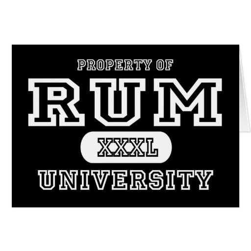 Rum Univeristy Dark Greeting Card