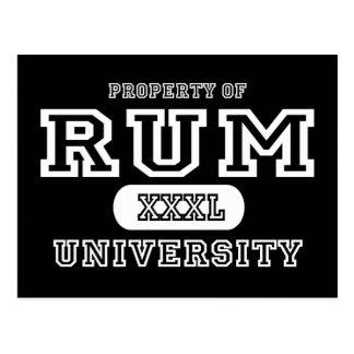 Rum Univeristy Dark Postcard