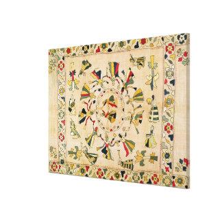 Rumal: square embroidery cover showing Punjabi dan Canvas Print