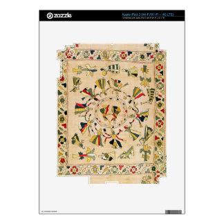 Rumal: square embroidery cover showing Punjabi dan Skins For iPad 3