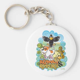 Ruman and Rupert Crest Basic Round Button Keychain