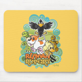 Ruman and Rupert Crest Mouse Pads