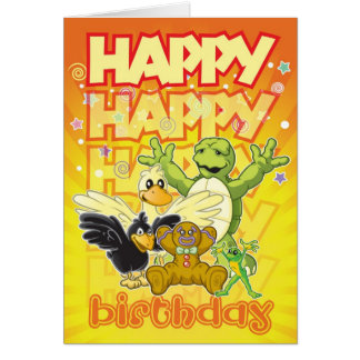 Ruman and Rupert Happy Birthday Card