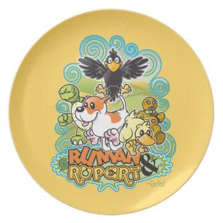 Ruman y escudo de Rupert Plato De Comida