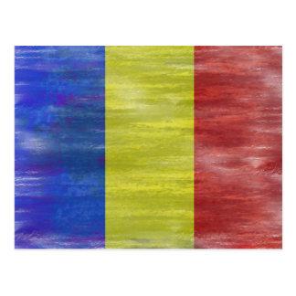 Rumania apenó la bandera rumana postal