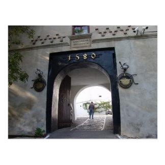 Rumania Brasov puerta del St Catherine 1580 Tarjetas Postales