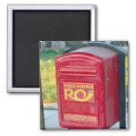 Rumania, caja del poste imán de frigorífico