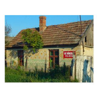 Rumania, casa del pueblo para la venta postal
