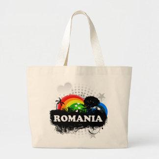 Rumania con sabor a fruta linda bolsa tela grande