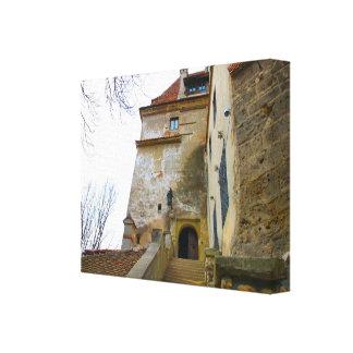 Rumania, el castillo de Drácula en el salvado, Tra Impresión En Tela