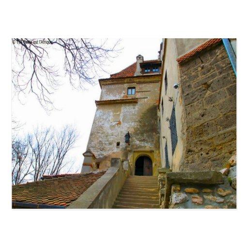Rumania, el castillo de Drácula, salvado, Transylv Tarjeta Postal