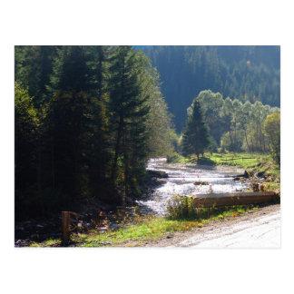 Rumania, el Moldavia, río en las montañas Tarjetas Postales