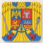 Rumania - escudo de armas. Emblema Posavasos De Bebida