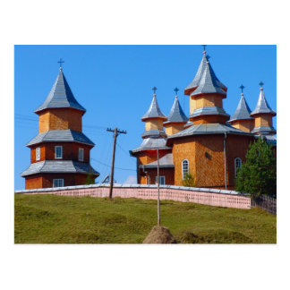 Rumania, nueva iglesia de A en el Moldavia rural Postales
