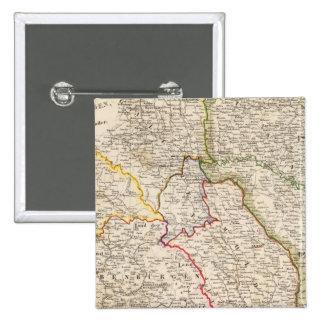 Rumania, Polonia Pin Cuadrado
