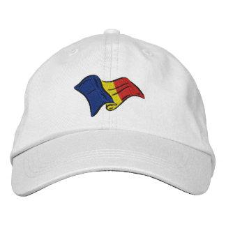 Rumania Romania wavy flag Embroidered Baseball Hat