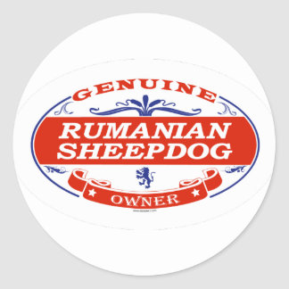 RUMANIAN SHEEPDOG_ CLASSIC ROUND STICKER