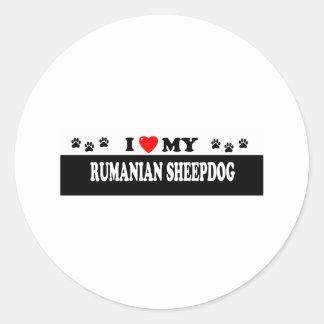RUMANIAN SHEEPDOG CLASSIC ROUND STICKER