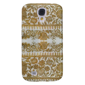 Rumanian traditional embroidery, gold samsung galaxy s4 case