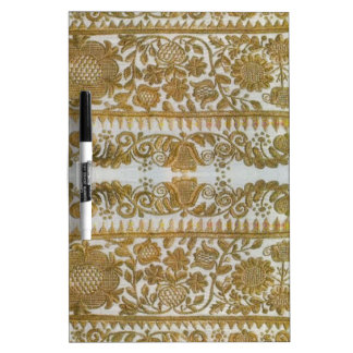Rumanian traditional embroidery, gold Dry-Erase whiteboards