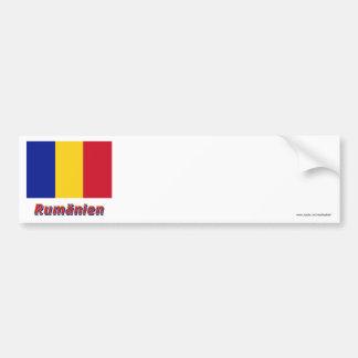 Rumänien Flagge mit Namen Car Bumper Sticker