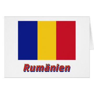 Rumänien Flagge mit Namen Greeting Card