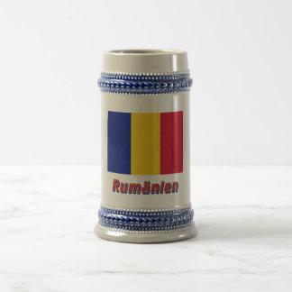 Rumänien Flagge mit Namen 18 Oz Beer Stein