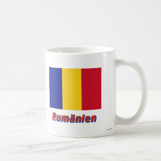 Rumänien Flagge mit Namen Classic White Coffee Mug