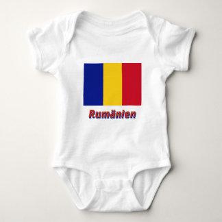 Rumänien Flagge mit Namen Tees