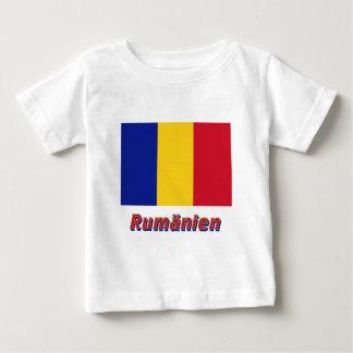 Rumänien Flagge mit Namen Tee Shirt