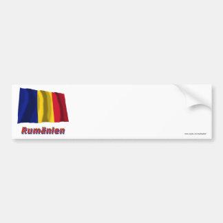 Rumänien Fliegende Flagge mit Namen Car Bumper Sticker