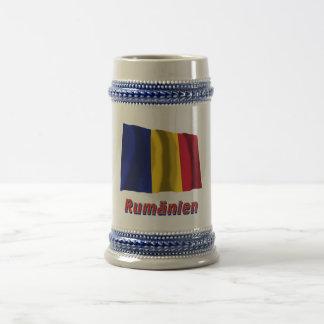 Rumänien Fliegende Flagge mit Namen 18 Oz Beer Stein