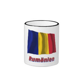 Rumänien Fliegende Flagge mit Namen Ringer Coffee Mug