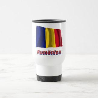 Rumänien Fliegende Flagge mit Namen 15 Oz Stainless Steel Travel Mug