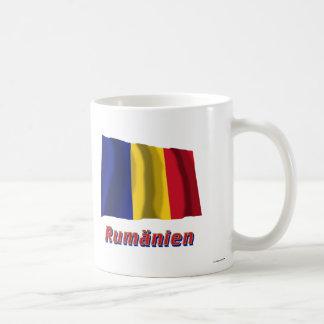 Rumänien Fliegende Flagge mit Namen Classic White Coffee Mug