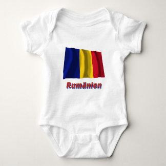 Rumänien Fliegende Flagge mit Namen Tee Shirt