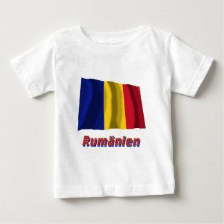 Rumänien Fliegende Flagge mit Namen T-shirts