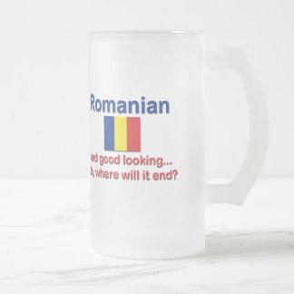 Rumano apuesto taza cristal mate