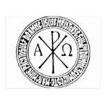 Rumano Christogram con el rezo de Jesús Postal
