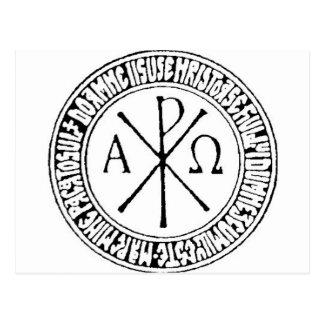 Rumano Christogram con el rezo de Jesús Tarjeta Postal