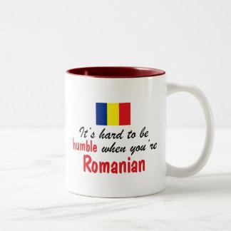 Rumano humilde taza dos tonos
