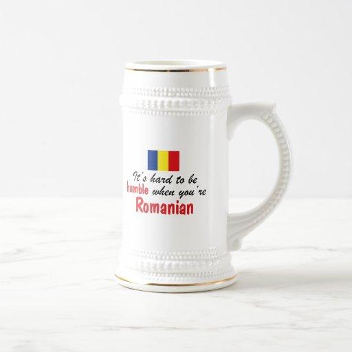 Rumano humilde tazas de café