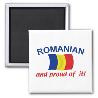 Rumano orgulloso imán cuadrado