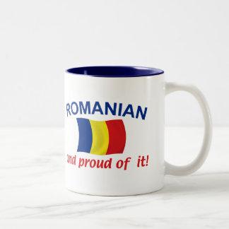Rumano orgulloso taza dos tonos