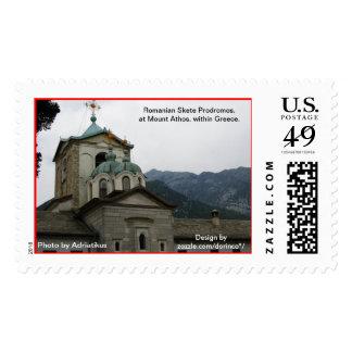 Rumano Skete Prodromos, en el monte Athos Sello Postal