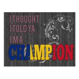Rumano y un campeón postales