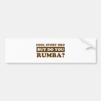 Rumba dance design bumper sticker