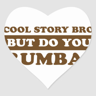 Rumba dance design heart sticker